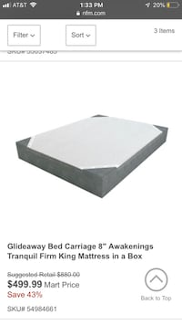 Brand new King size Firm mattress with 2 brand new box springs