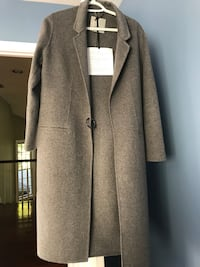 gray and black button-up coat Fairfax, 22030