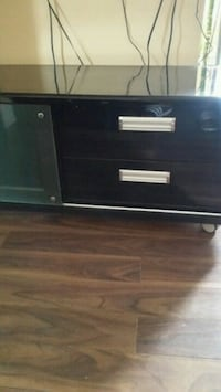 Black and white wooden 2-drawer chest Toronto, M3L 1E9
