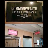 Commonwealth Sign from the Mall Virginia Beach, 23464