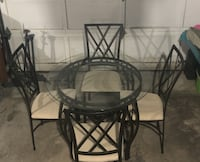 Glass Kitchen Table with 4 chairs null