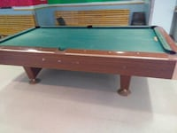 Used brown and green billiard table in canton for Table 6 in canton