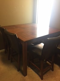 High Top Wooden Table w/Chairs