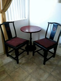 Oriental style bistro table and chair Chino Hills, 91709