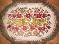 Vintage Group Muylle Belgium Tapestry Needlepoint Doilies/Doily Dollhouse Rug placemat