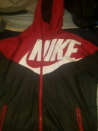 Nike windbreaker red and black size medium good condition