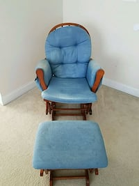 blue fabric padded glider chair Haymarket, 20169