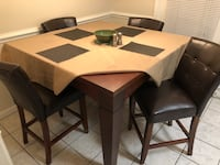 Brown Dining Table for 4 Mobile, 36608