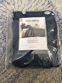 Real Simple® Dune Full/Queen Reversible Coverlet in Ink Markham, L6E 1R3