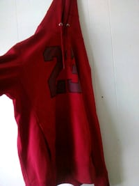 red and black Nike zip-up jacket 251 mi