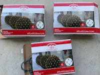 Three sets of 150 clear net lights for bushes. Virginia Beach, 23456