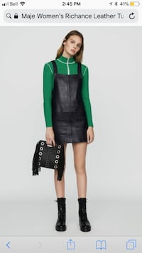 New Maje leather dress with pockets Burlington, L7M 4Z5