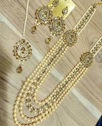 Kundan and gold plated jewellery set (ASK FOR PRICE)  Brampton, L6P 3S1