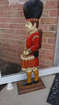 """36"""" TALL HAND-CARVED WOODEN DRUMMER Forest Hill, 21050"""
