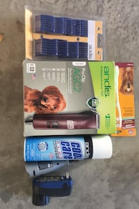 Pet grooming, nail filing and hair clippers