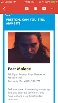 Post Malone Ticket Kalamazoo, 49006