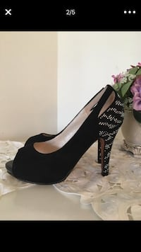 pair of black platform stilettos Fairfax, 22030