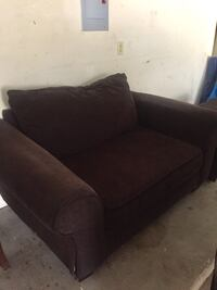 Must go ASAP!! Dark brown couch and ottoman Austin, 78749