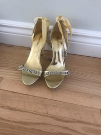 Gold high heels-size 9