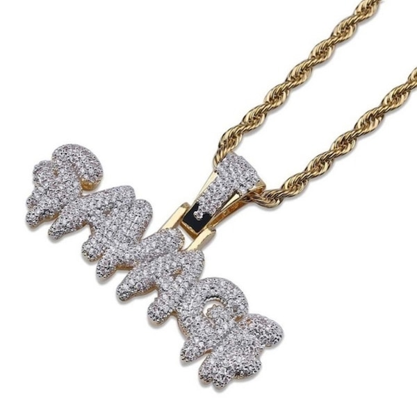 SAVAGE Necklace Brass Colored Gold chain for men / AK47 Gold color Pendent Necklace ce82a0bb-6a61-4aa8-bd93-c5fe934cffe1