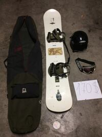 White and green snowboard