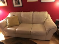 white leather 3-seat sofa Rockville, 20850