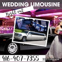 Wedding package limo limousine  Mississauga, L5B 3Y4