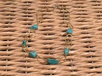 Gold & Turquoise Necklace Toronto