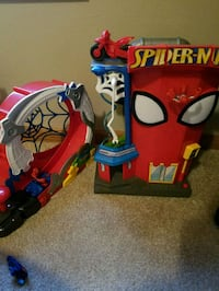 2 toys includes 2 Spiderman guys motorcycleand car Glyndon, 56547