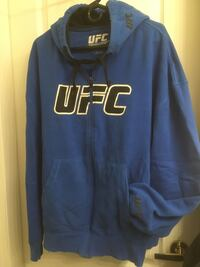 UFC blue full zip men's hoodie