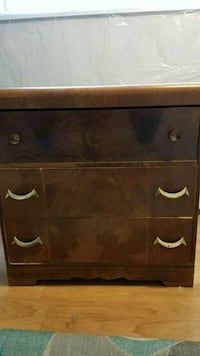 brown wooden 3-drawer dresser Calgary, T2W 1Y7
