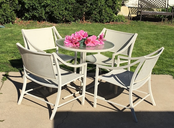 Used Vintage Brown Jordan Patio Balcony Bistro Furniture Set Regent