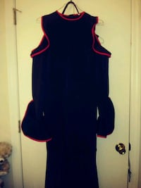 Black and Red Dress XL sheer to the bottom
