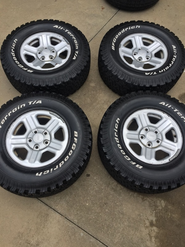 Used 4 Bf Goodrich At Ko1 26575r16 On Jeep Jk Wheels For Sale In