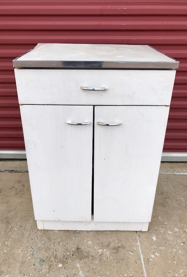 Used Wonderful Antique Retro Cabinet With Formica Top