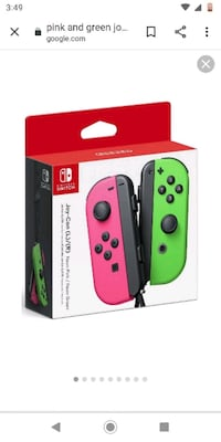 Pink and Green joy-con Nintendo switch controllers. Victoria, V8T 2E9