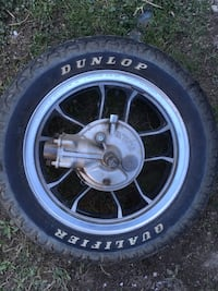 "16"" motorcycle tire and rim shaft drive"