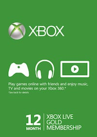 xbox live 12 month membership  Queens