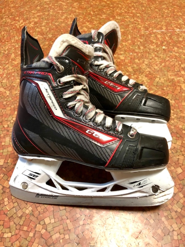Used Hockey Skates >> Ccm Jet Speed Xtra Pro Skates Size 4 0d Used Very Good Condition
