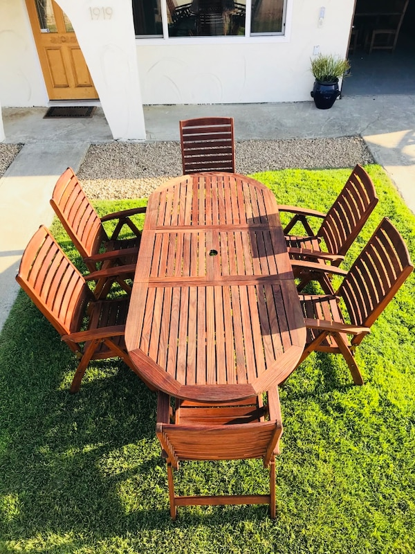 Used Royal Teak Outdoor Dining Set - Patio Table and ...