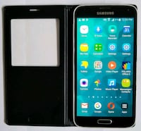 black Samsung Galaxy Android smartphone 554 km