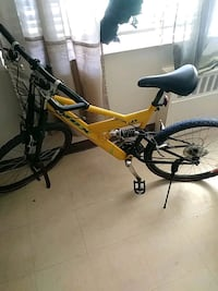Yellow and black full-suspension bike Paterson, 07501