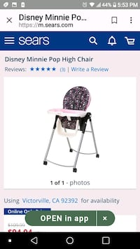 baby's pink and black high chair screenshot Highland, 92346