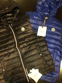 Black and Blue Moncler vests Mississauga, L5B