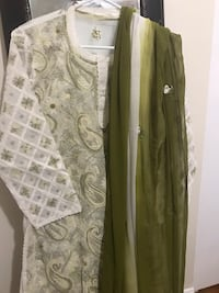 Women's green and white shalwar kamez  Fairfax, 22032