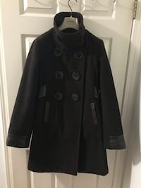 Sicily Leather and Wool Winter Coat Vancouver, V6Z 1A8