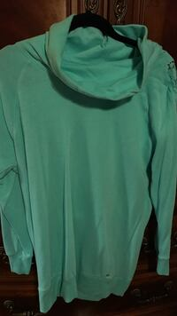 Victoria's secret 60% cotton 40% polyester teal long sweater. never worn medium  Douglasville, 30135
