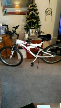 red and white full-suspension bike Eugene, 97402