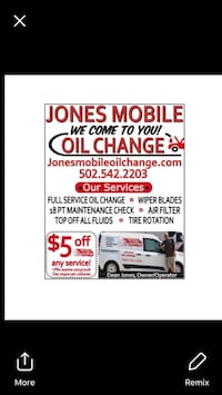 mobile oil change service Georgetown, 40324
