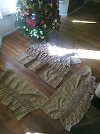 4 golden top treatment curtains very nice